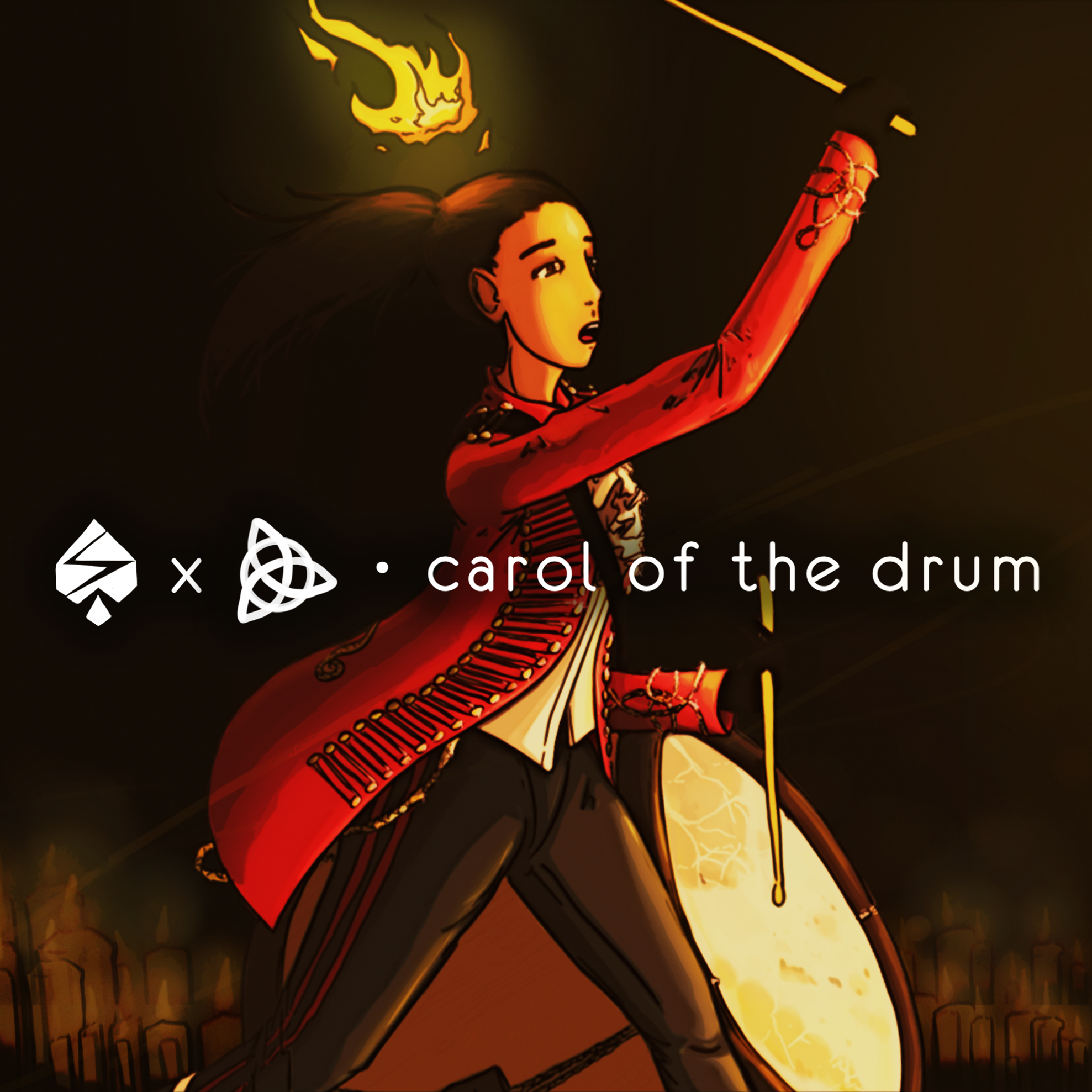 Carol of the Drum ~ Sleeve Cover