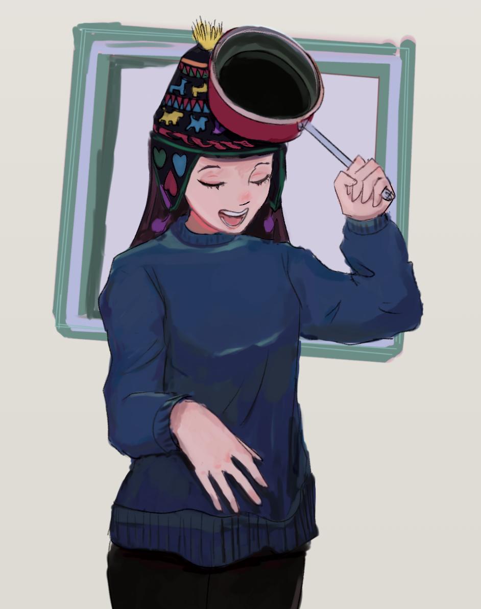 pot on head girl (snailpirate)