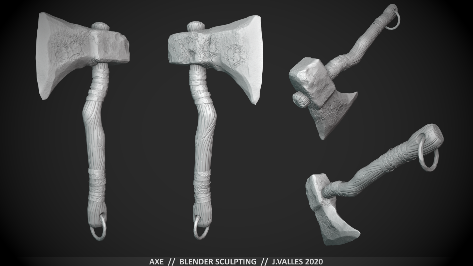 Axe - Blender Sculpting