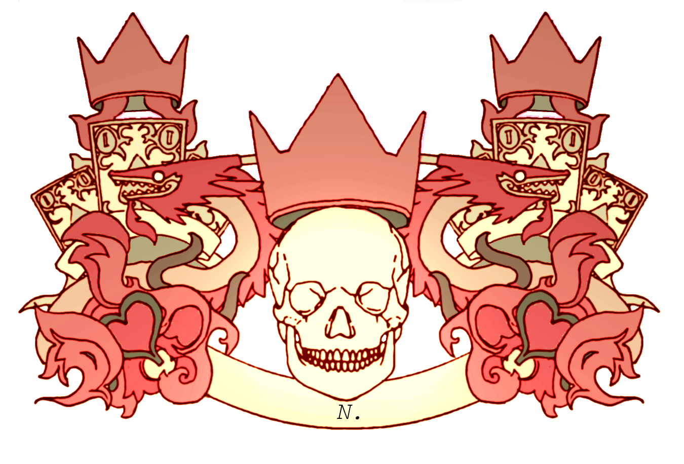 skull and crown