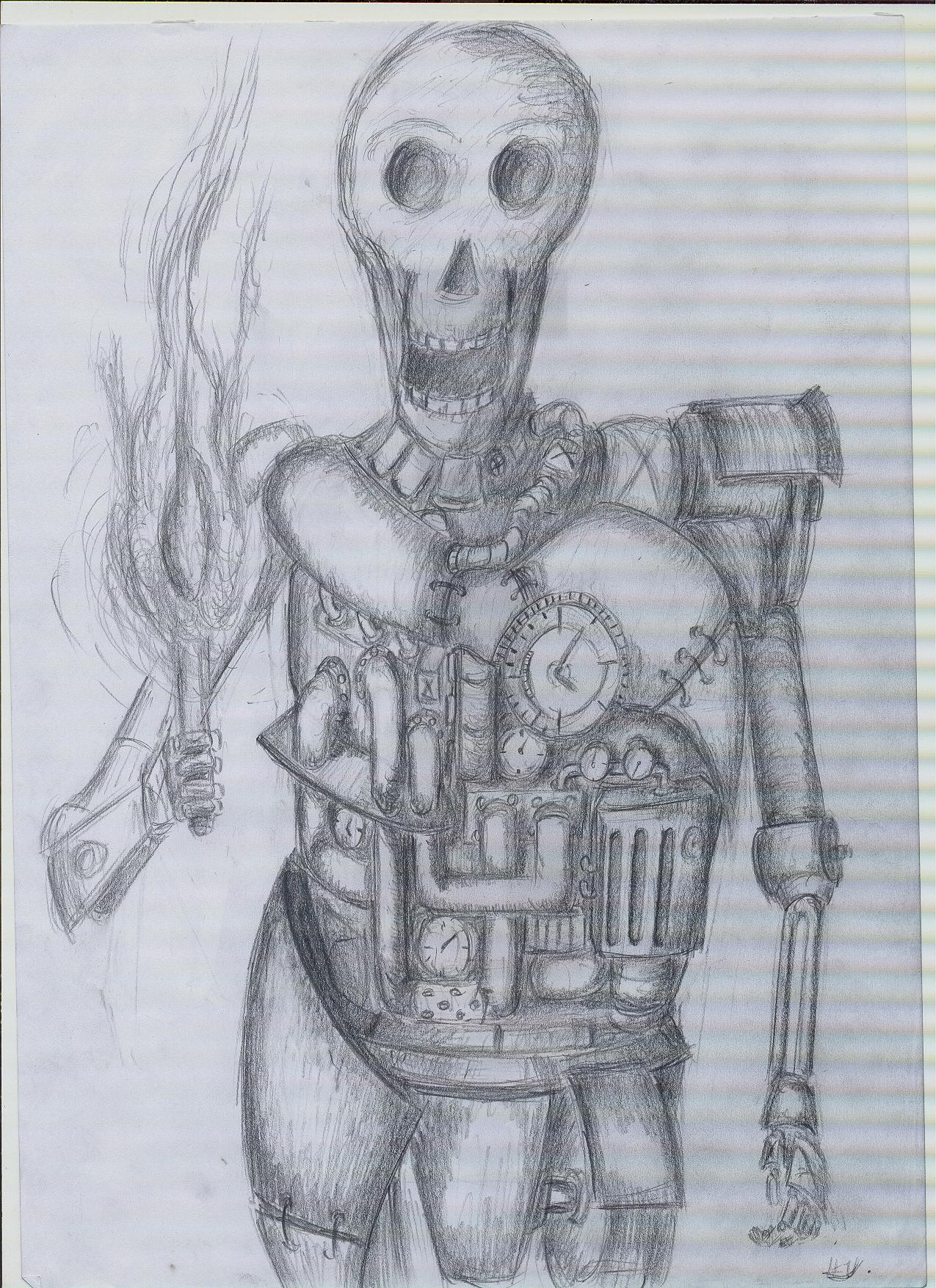 steampunk skeleton