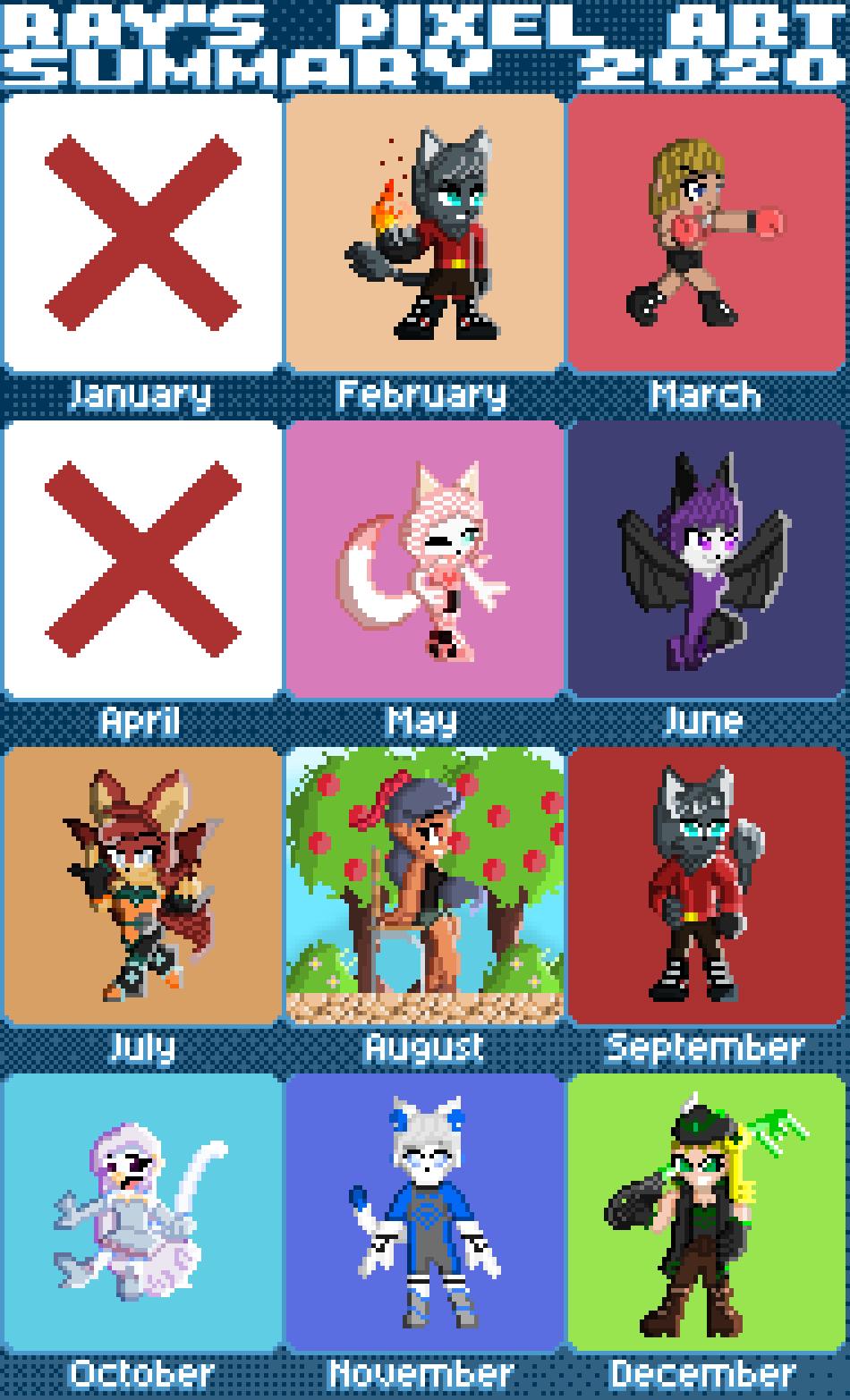 Ray's Pixel Art Summary 2020