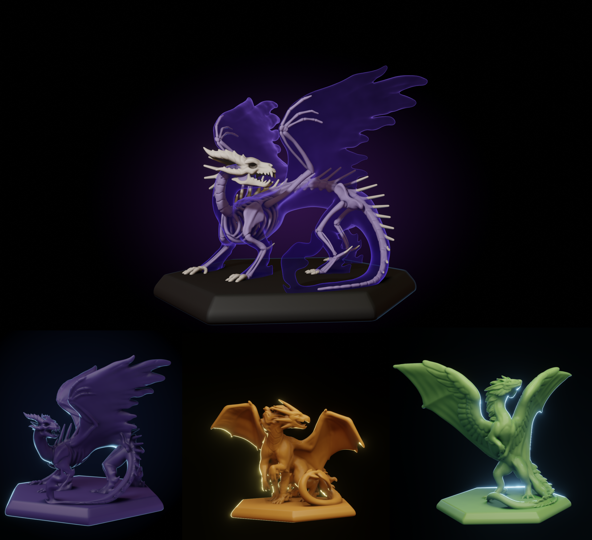 Dracul and the figurines