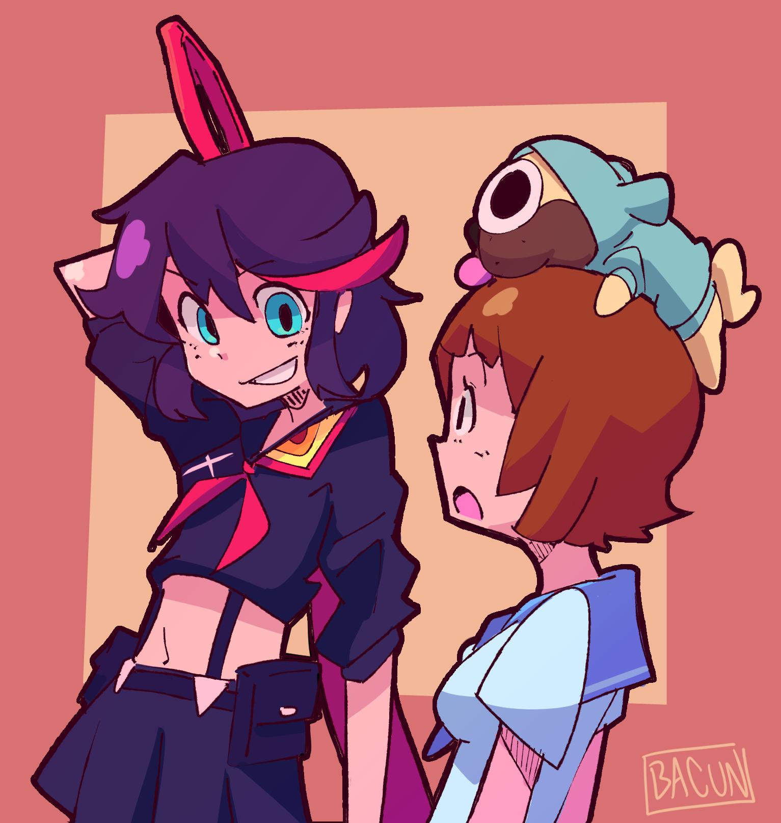 Ryuko and Mako Talking