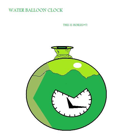 Water Balloon Clock