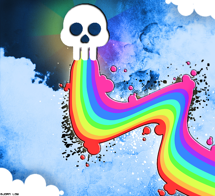 colours, and a skull