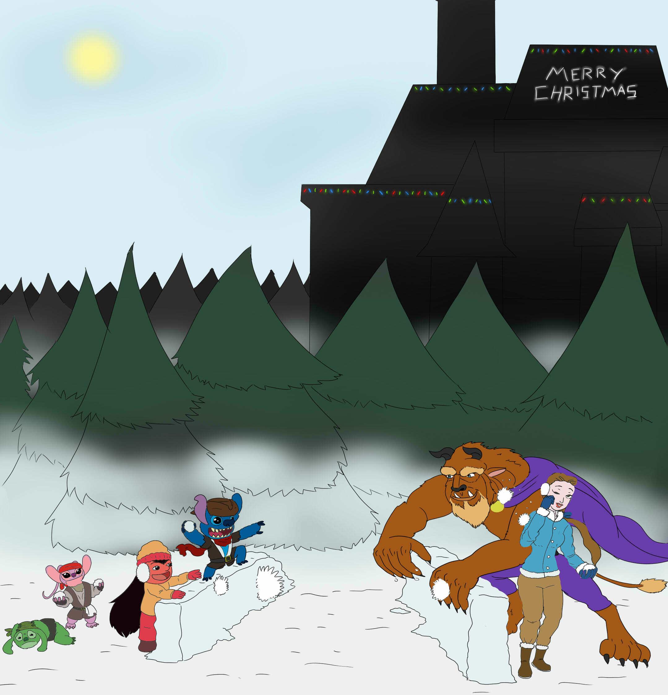 Christmas Snowball Fight
