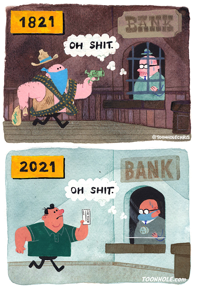 Evolution of the Mask