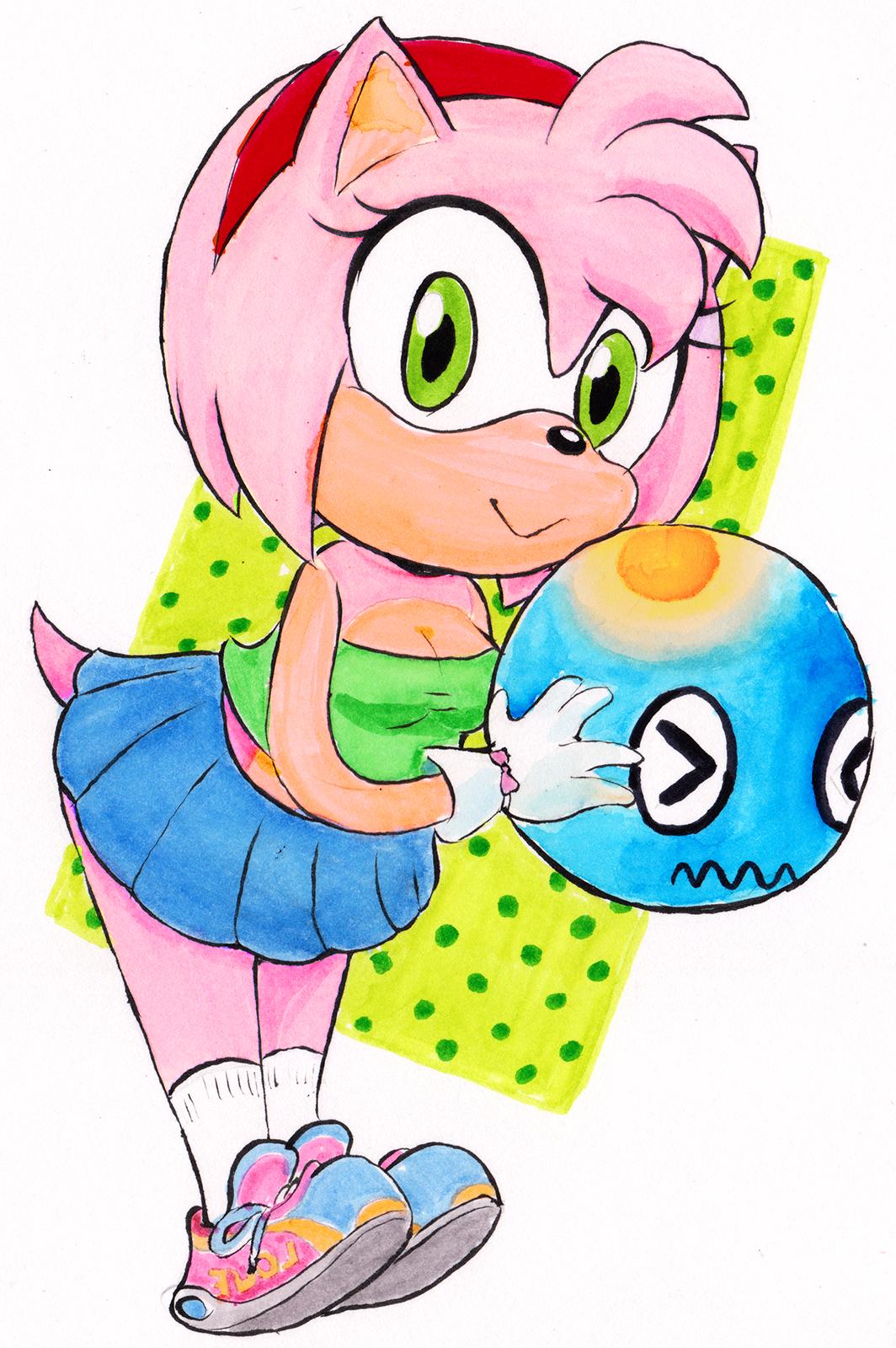 Amy Rose doodle