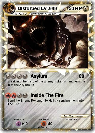 Disturbed Pokemon Card