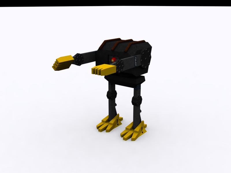 3d robot textured