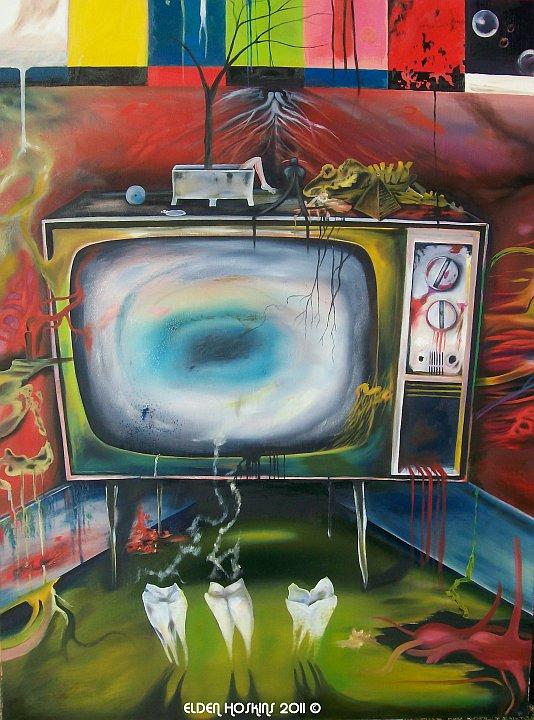 T.V. - Oil Painting