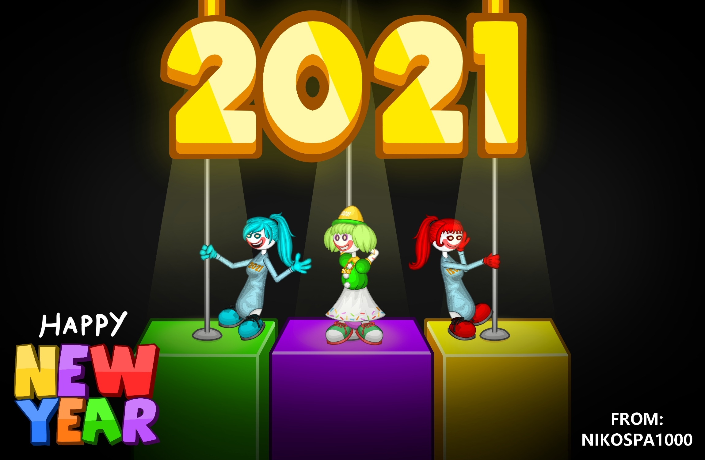 Happy New Year 2021 🥳🎆🎉🎊