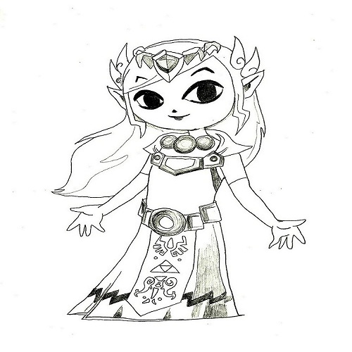 princess zelda from windwaker