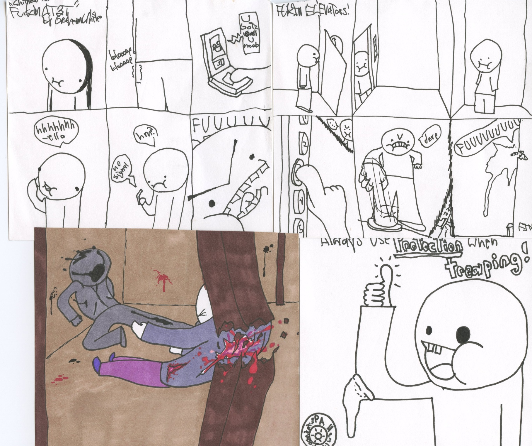 FUU Comics (2) and Sketches.