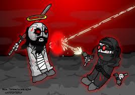 Madness Combat Hank vs Jebus