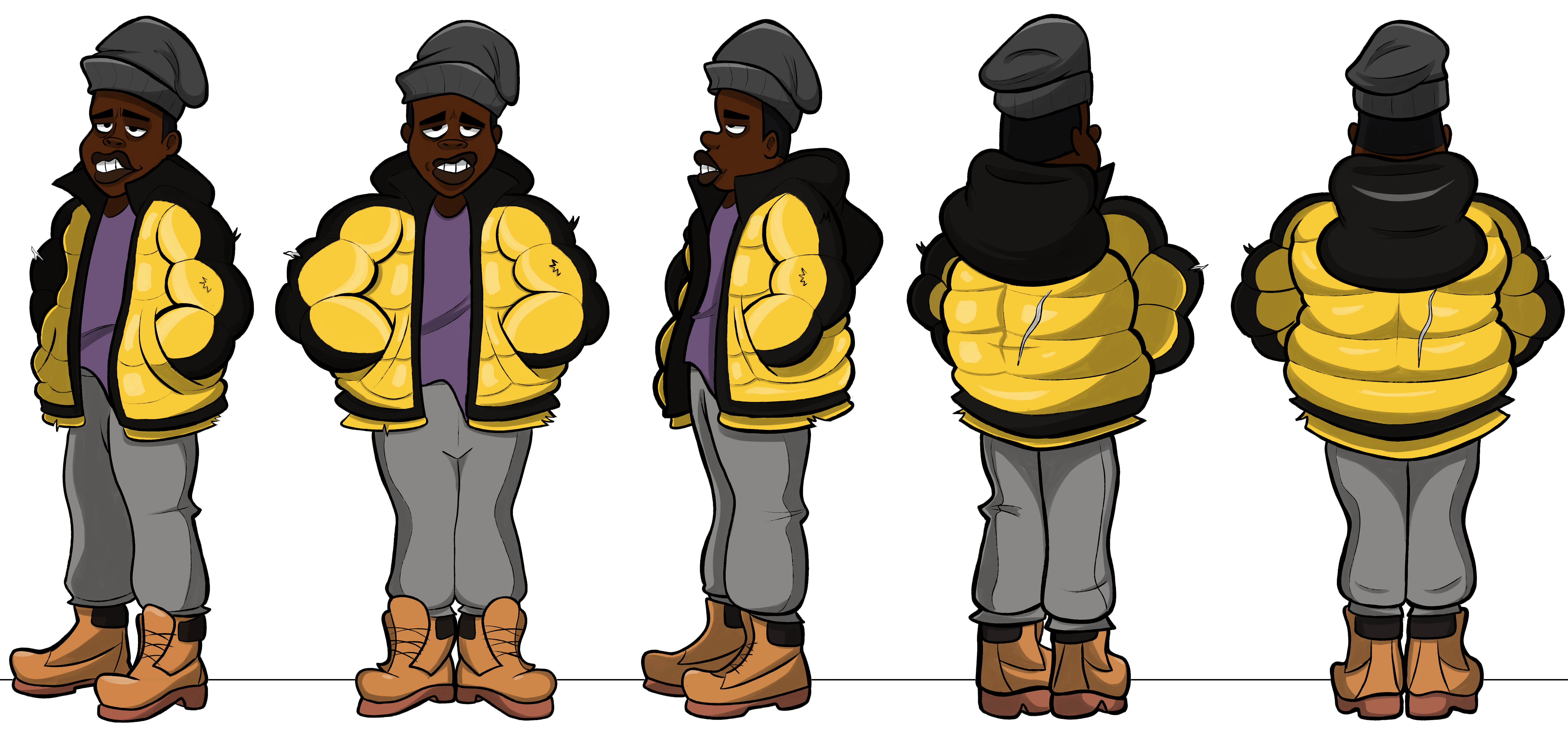 Character Turnarounds - Johnny