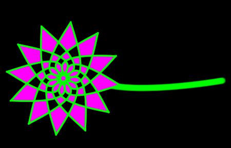 Flower made of diamonds