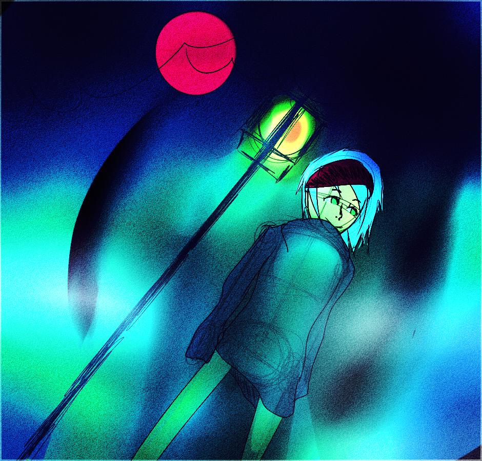 ...at night
