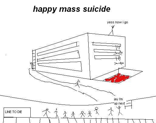 happy mass suicide
