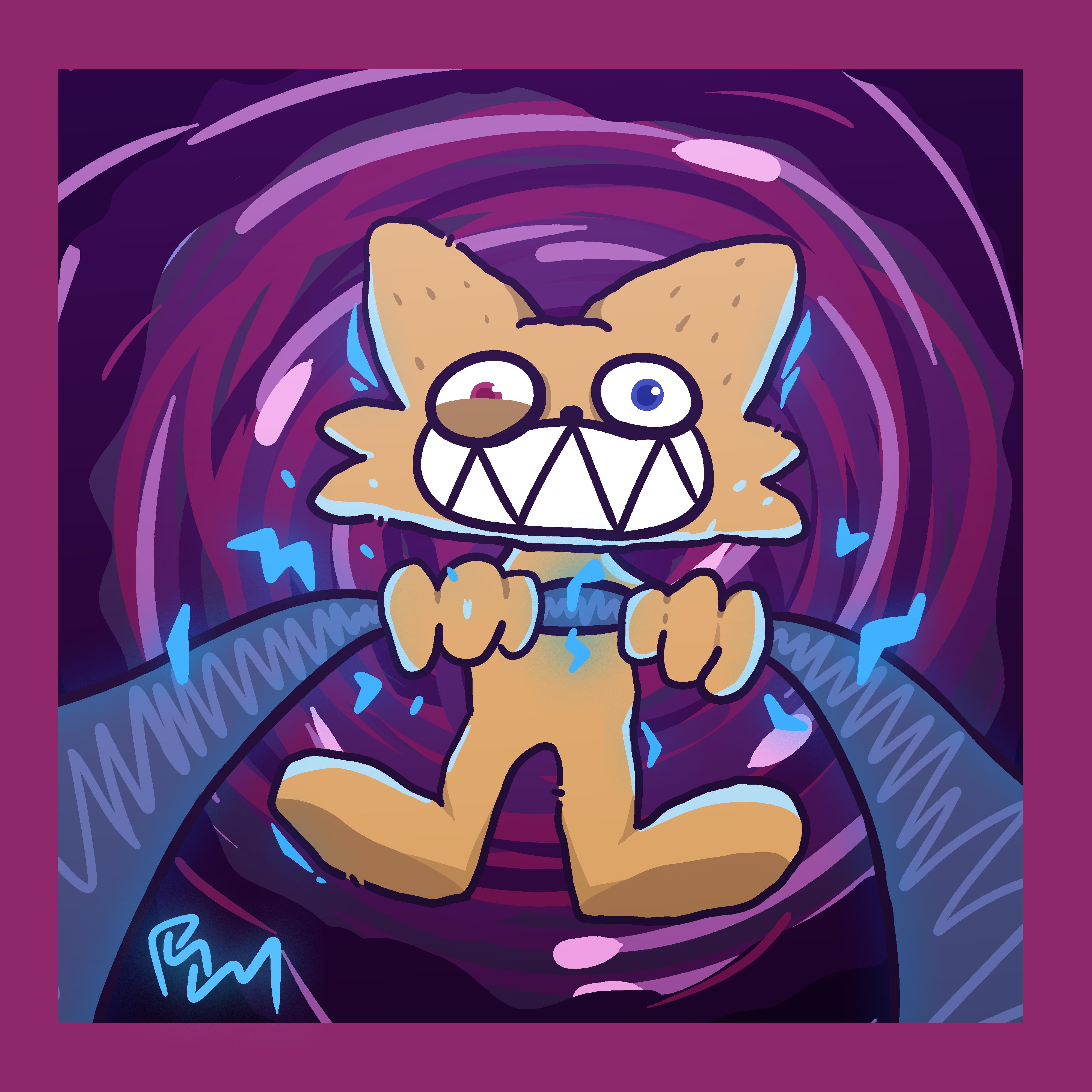 Shocking gato
