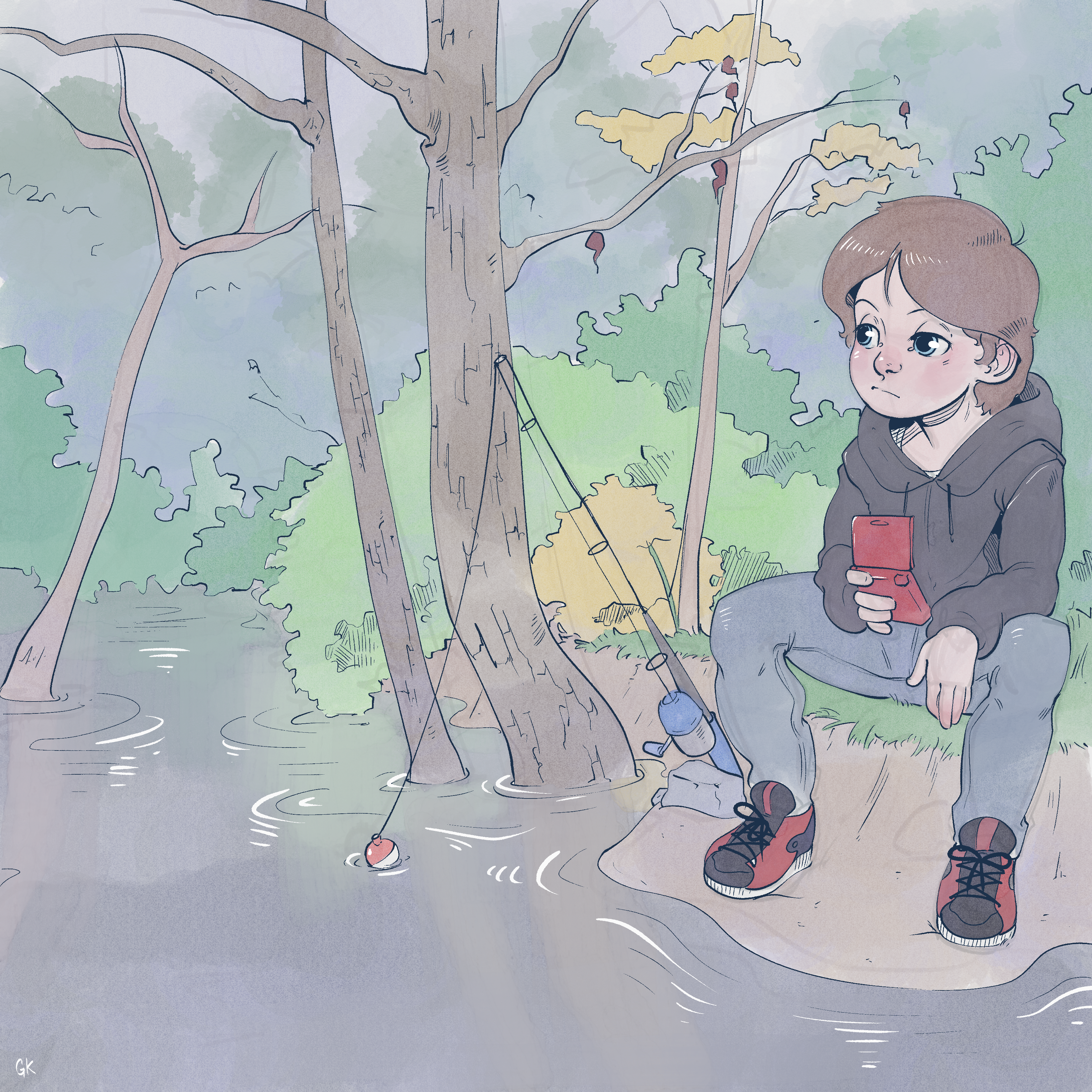 Gameboy by the Creek