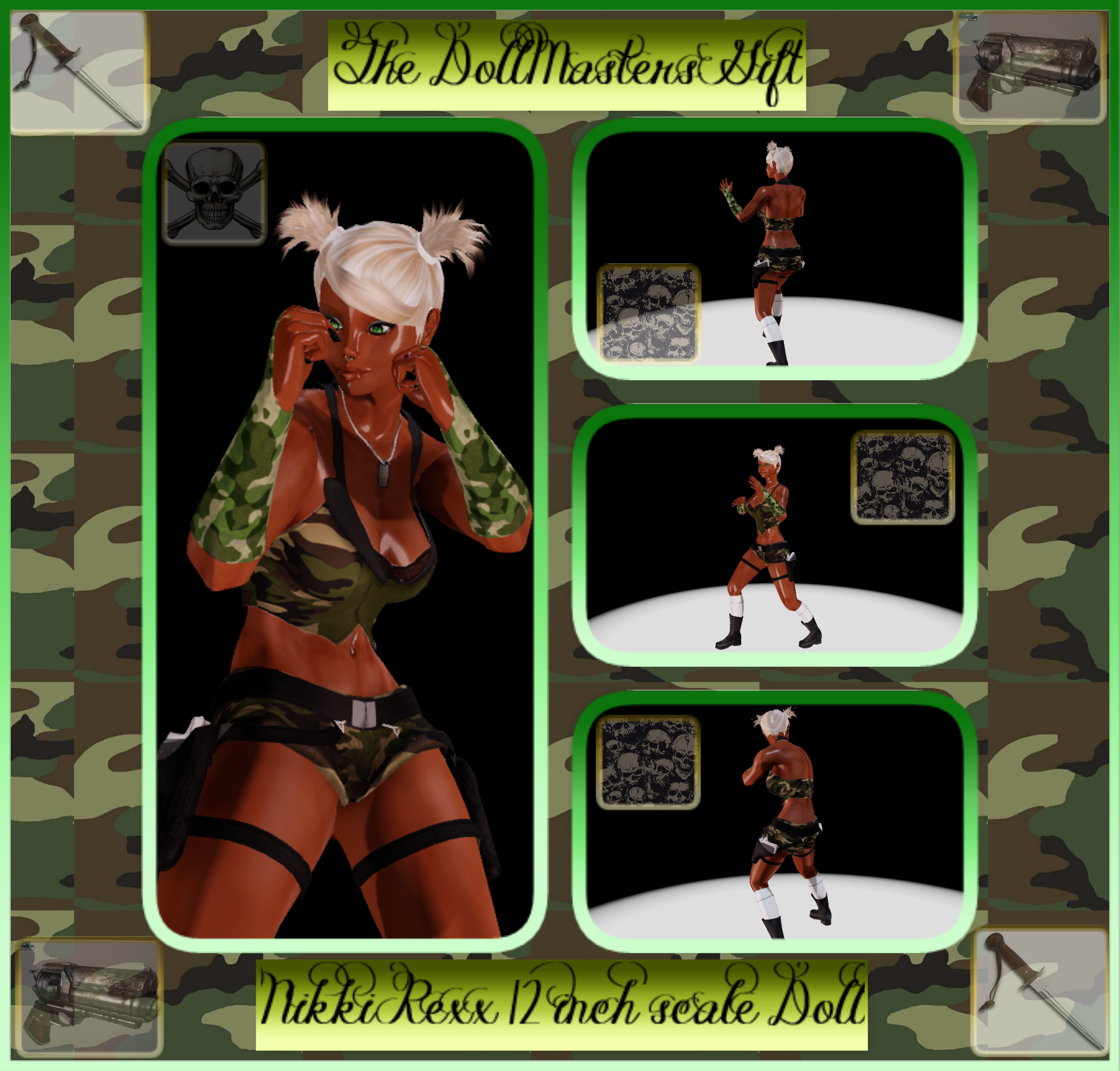 Nikki Rexx 12 inch Doll The Doll Masters Gift