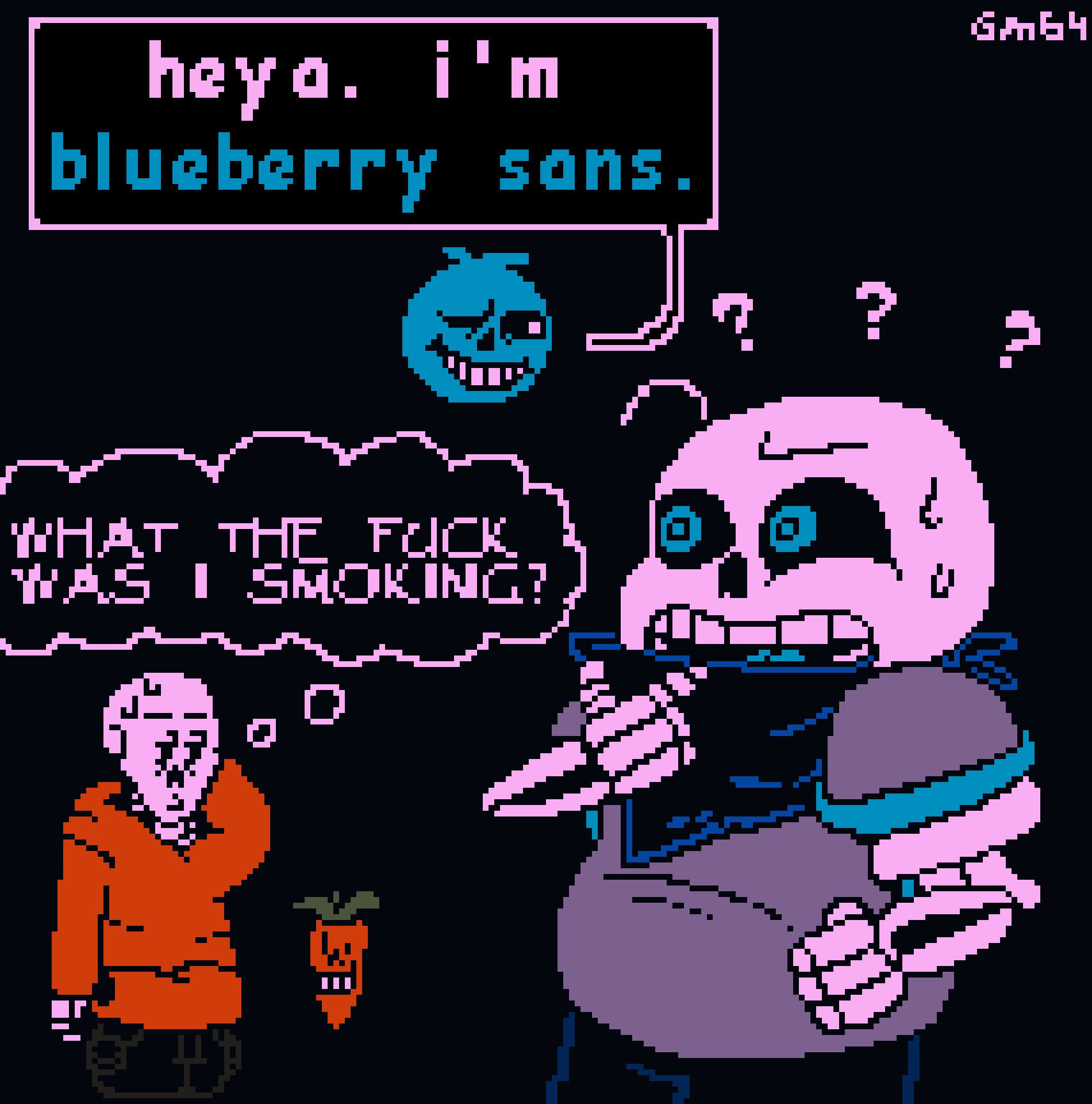"Underswap Bros meet ""Blueberry and Carrot"" Bros"