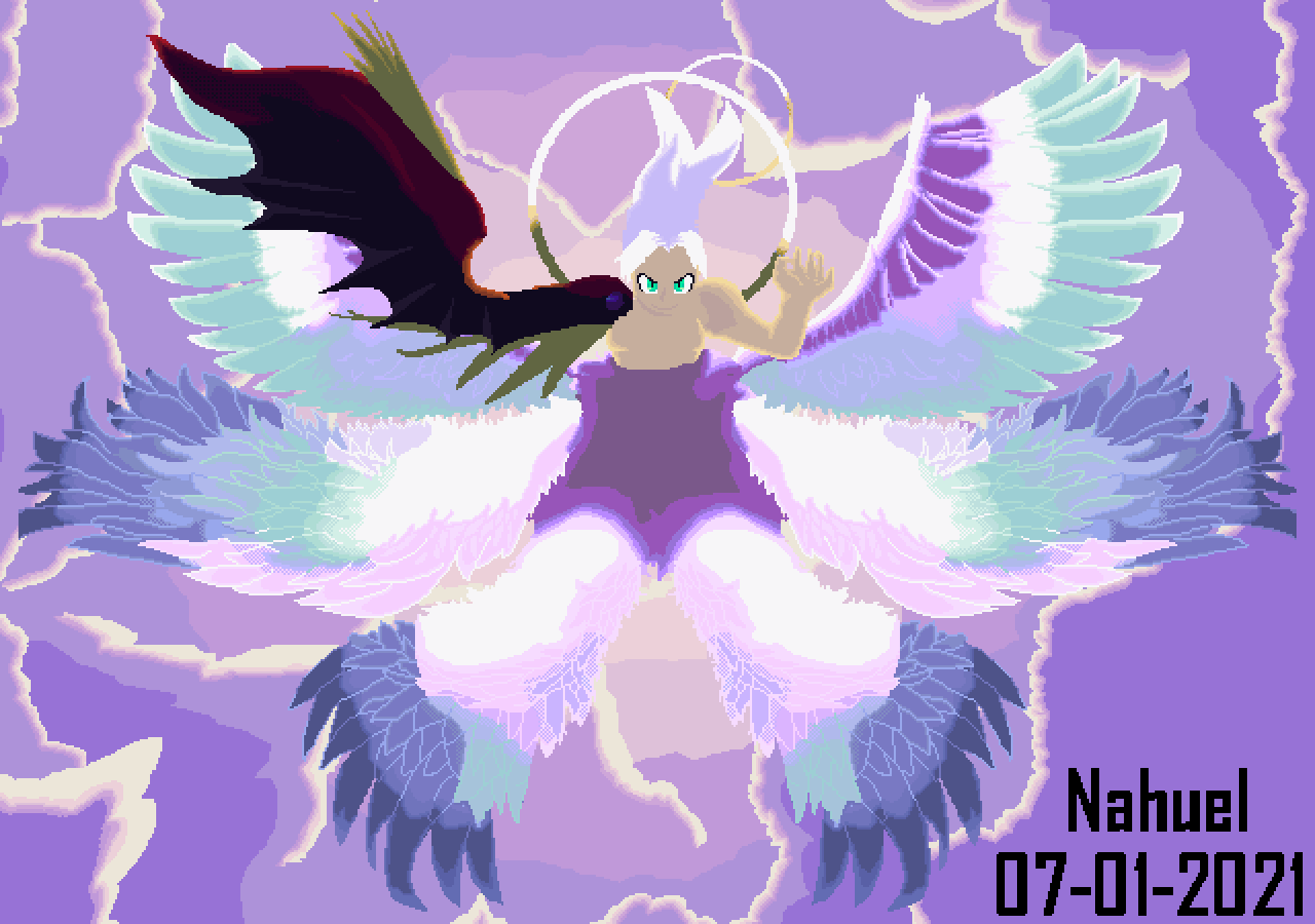 one winged angel of course