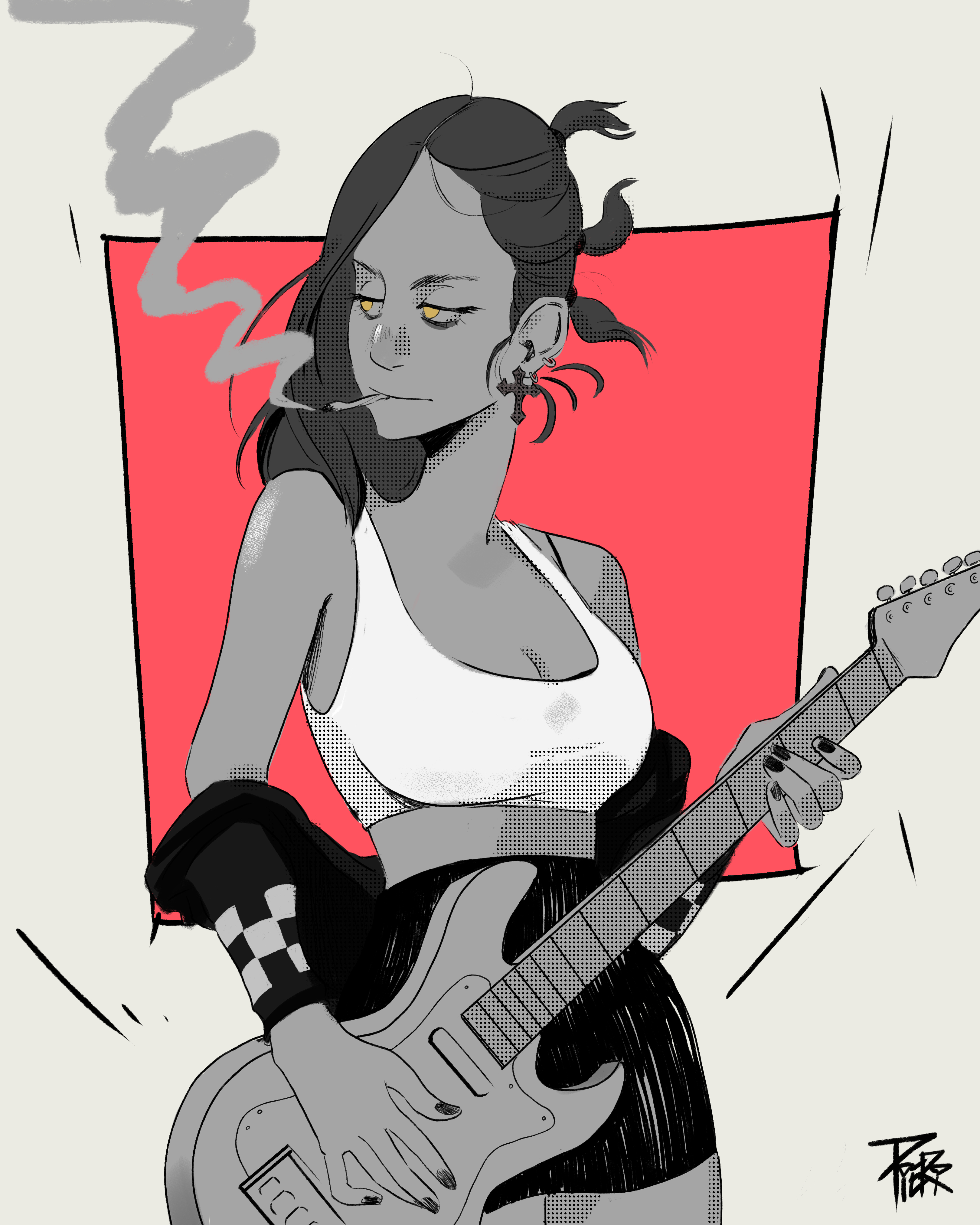 The girl of the band