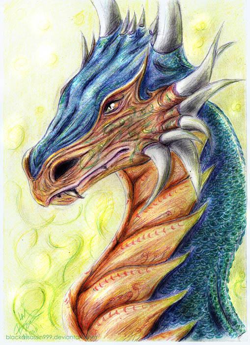 Dragon coloured