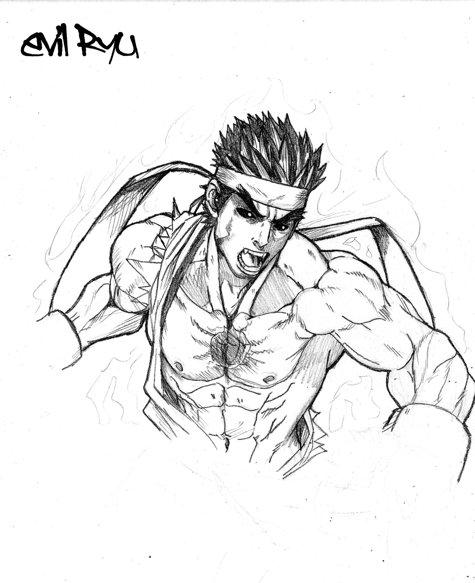 Capcom-Sf4-Evil ryu