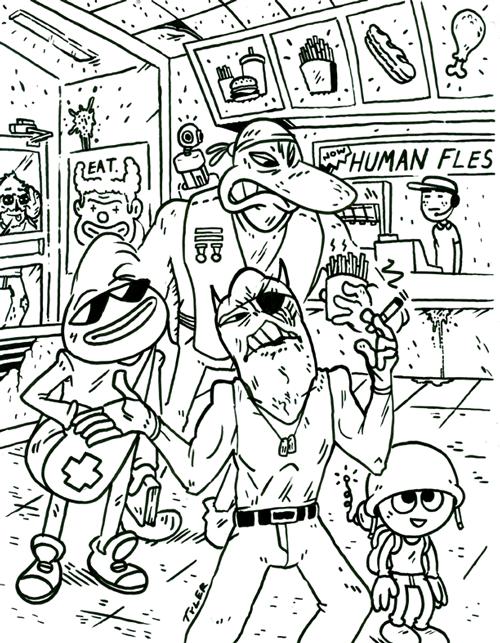 Demon Mercenaries Get Lunch