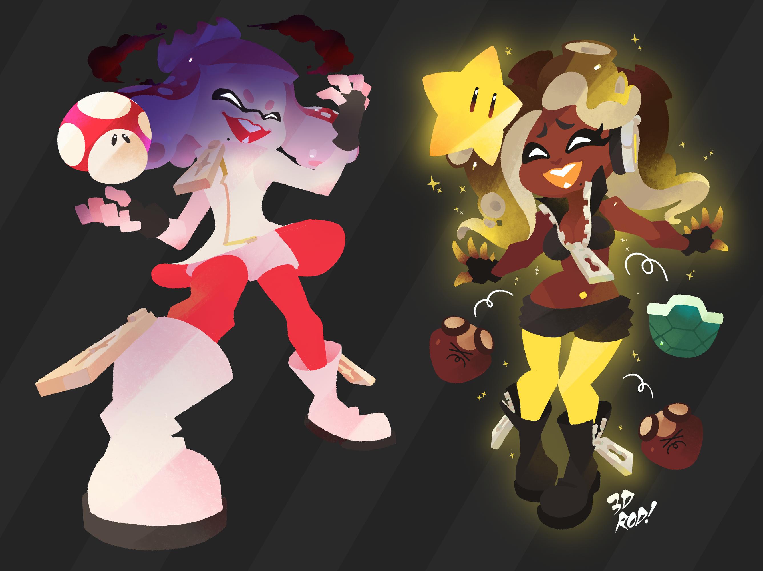 Super Mushroom vs Super Star!
