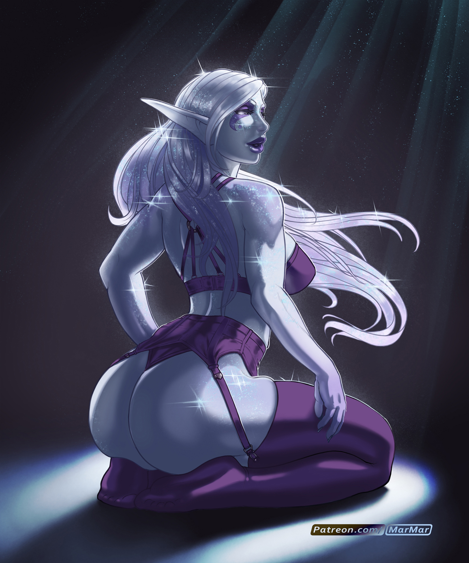 Moonlight Elf Butt - Pinup