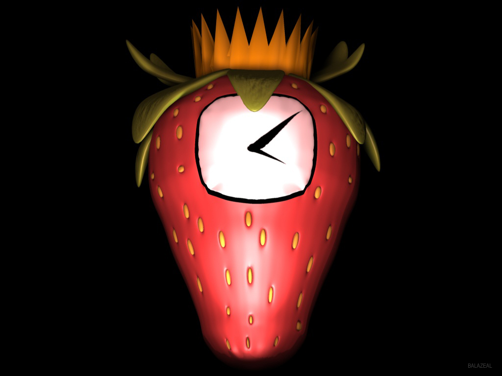 Strawberry Clock 3D