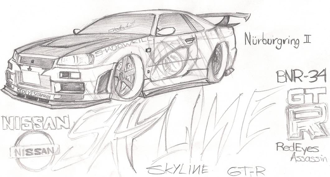 Nissan Skyline GT-R (BNR34) by RedEyesAssassin on Newgrounds