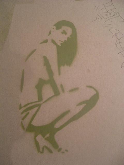 first stencil