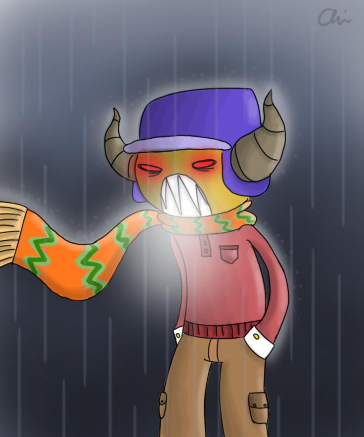 Gyro in Rain