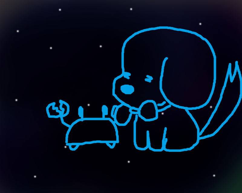 Crabcake & teh Doggy in Space
