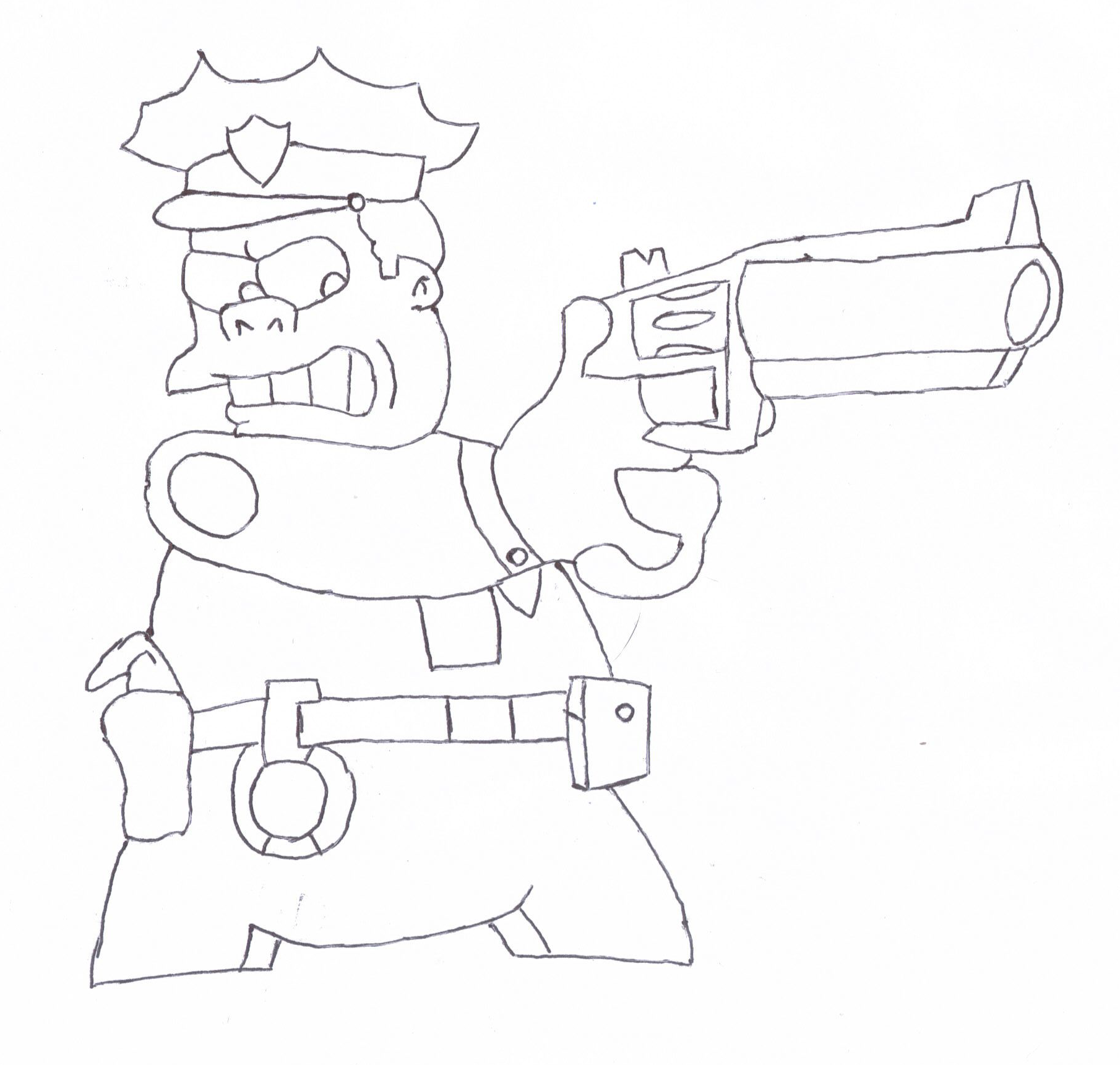 Chief Wiggum Sketch