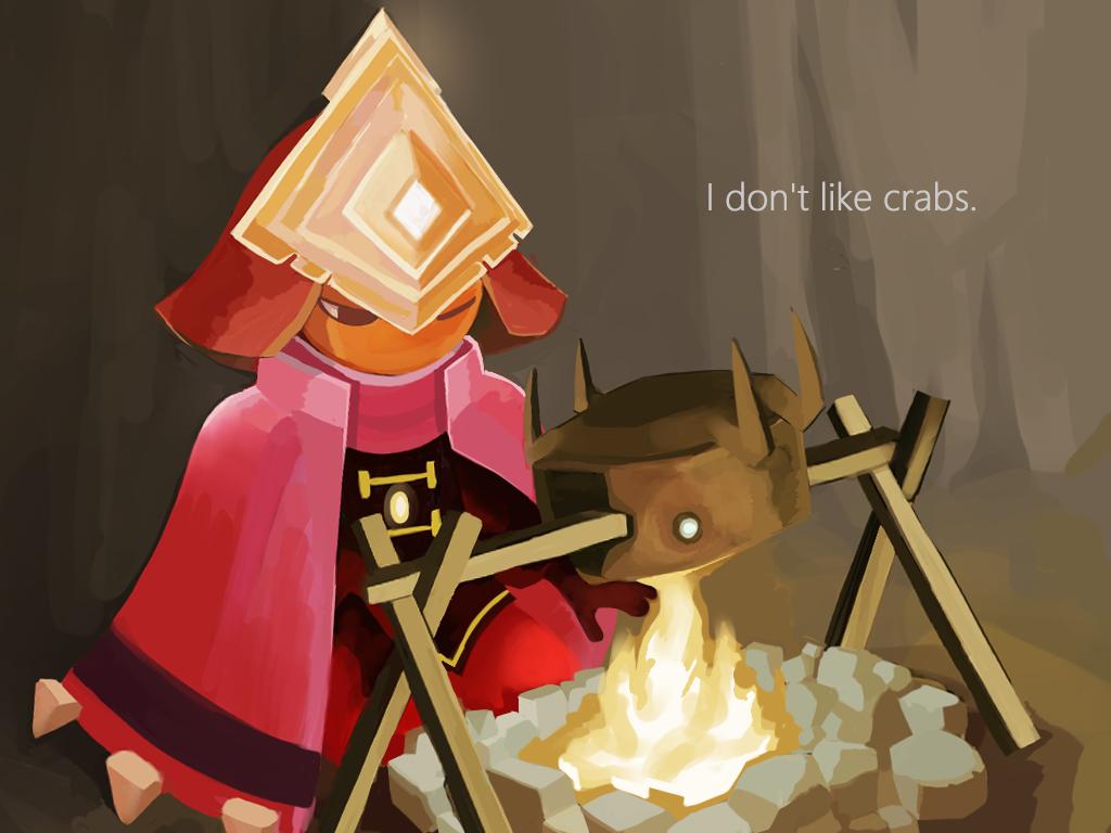 Roasting crab