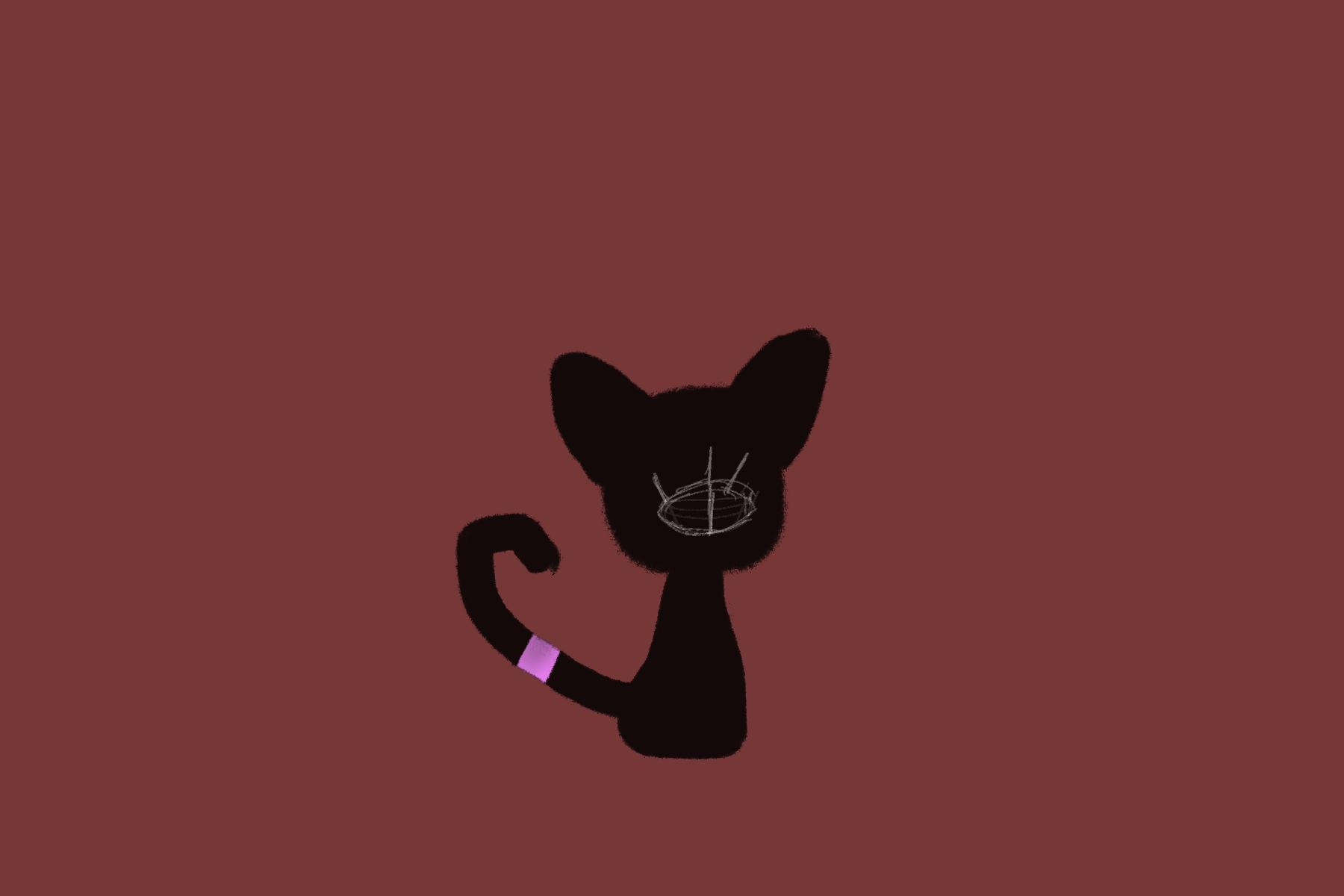 oh boy it's a scary cat boi