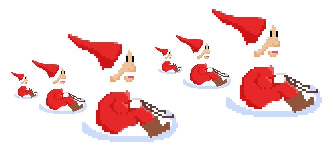 Mini Santa Sled Sprite