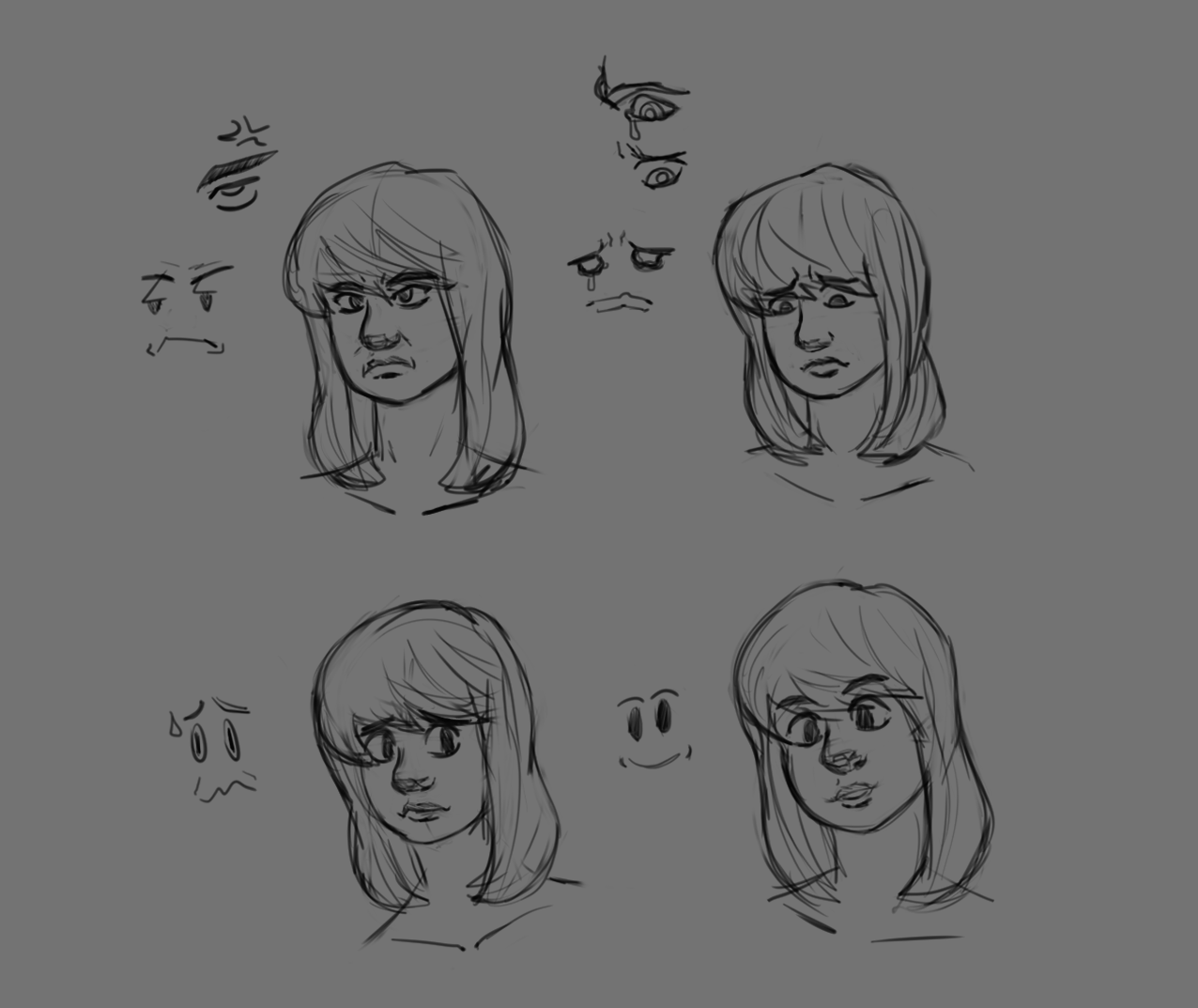 face expressions practice