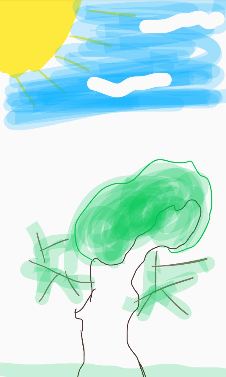 Notes app drawing