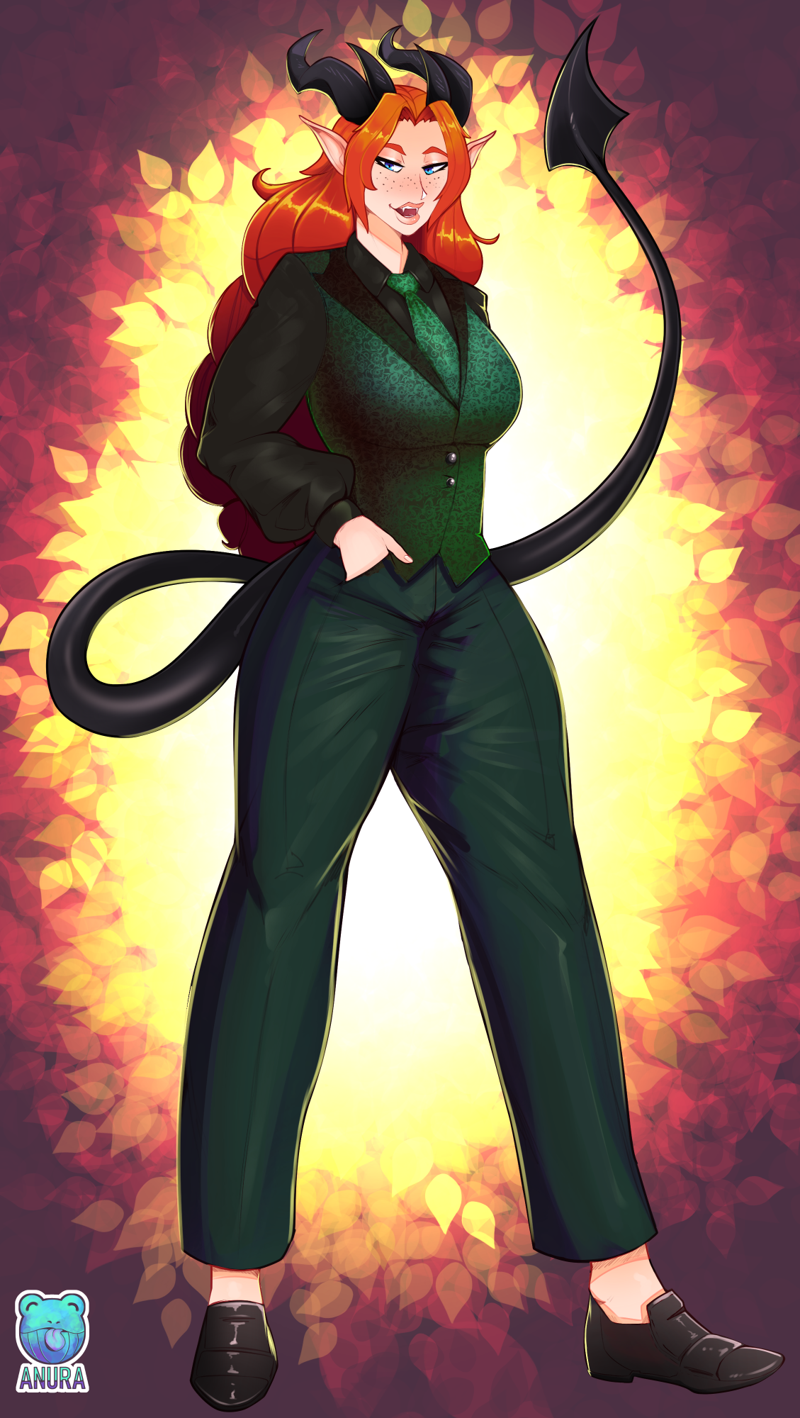 Tiefling Well Suited [2020 COMM]