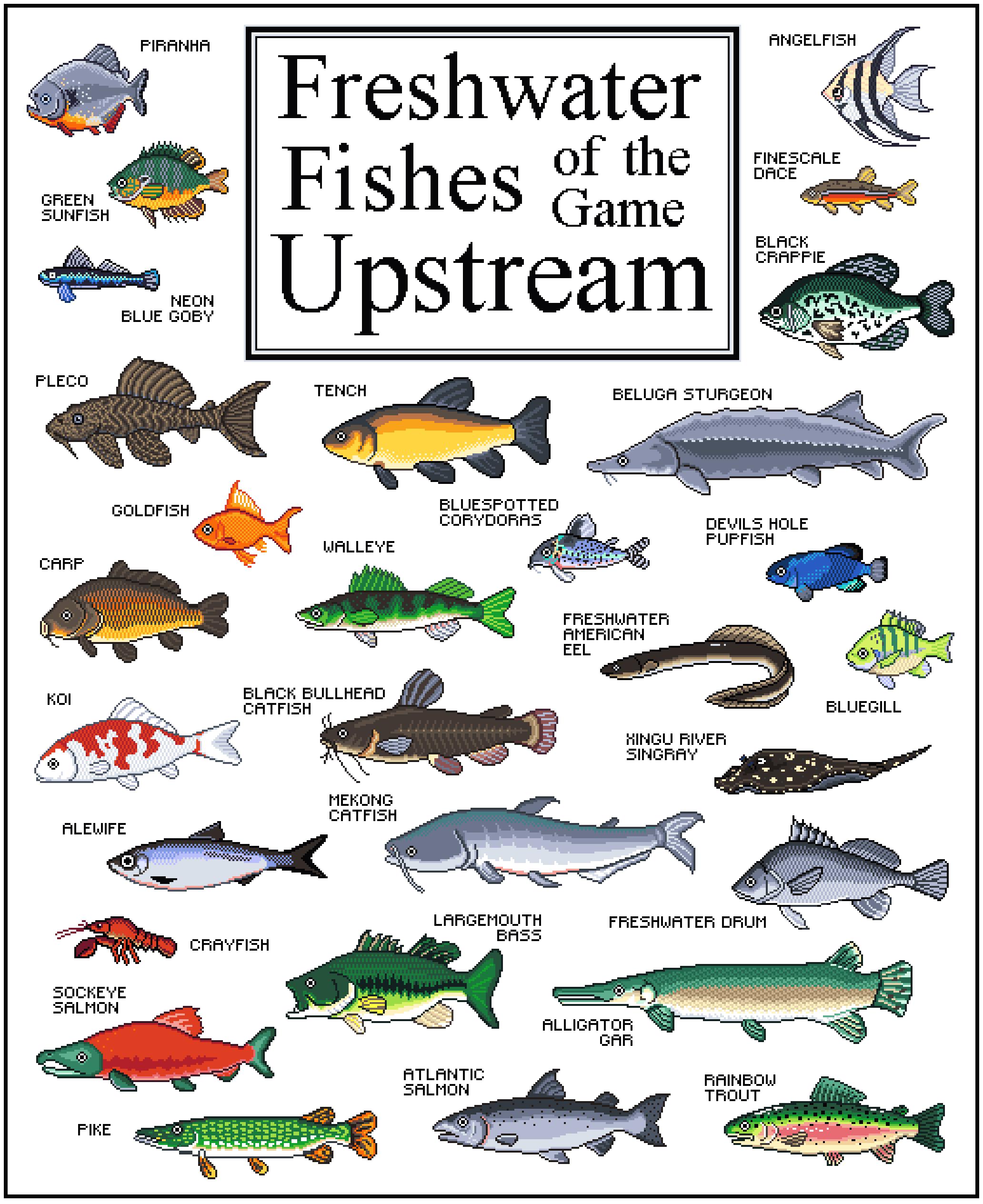 Upstream Game Fish Poster