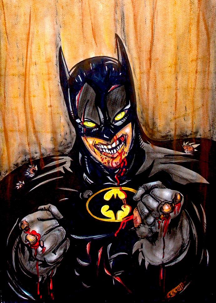 Beat-up Batman