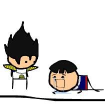 Vegeta and Gohan